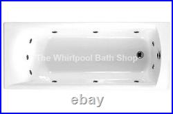 Carron Delta 1400mm 11 Jet Whirlpool Bath Small Jacuzzi Spa + Free LED Light