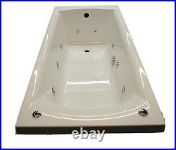 Carron Delta 1650mm 11 Jet Whirlpool Spa Bath Jacuzzi Spa + Free LED Light