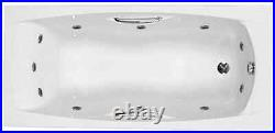 Carron Imperial 1500 x 700 11 Jet Whirlpool Jacuzzi Spa Bath + Free LED Light