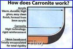Carron Oriole 1200 x 1200 11 Jet Whirlpool Corner Bath Jacuzzi + Free LED Light
