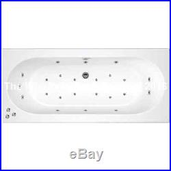 Cascade 23 Jet Double Ended Whirlpool Jacuzzi Bath 1700 H x 700 W x 550 D MM