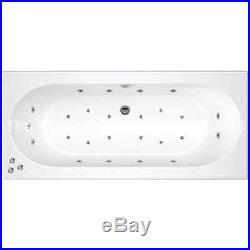 Cascade 25 Jet Double Ended Whirlpool Jacuzzi Spa Bath 1800 x 800 x 550 MM