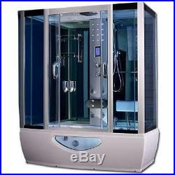Combined whirlpool jacuzzi spa bath steam enclosure shower screen cabin 1650x800