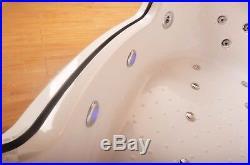 Corner 20 Jet Whirlpool Bath Shower Air Spa Jacuzzi Massage 1500mm 2 person Bath