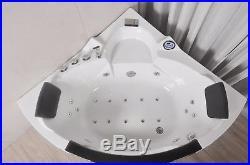 Corner 20 Jet Whirlpool Bath Shower Air Spa Jacuzzi Massage 1500mm 2 person tub