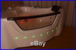 Corner 20 Jet Whirlpool Bath Shower Spa Jacuzzi Massage 1500mm 2 person Bath Tub