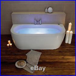Decadence 1700 x 800mm 12 Luxury Jet Whirlpool / Jacuzzi Bath & LED Light