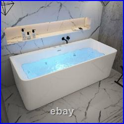 Freestanding Modern Whirlpool Bath Tub Indoor Acrylic Jacuzzi 1700 x 750 x 580mm