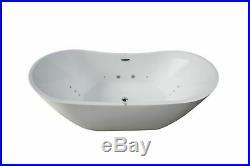 Grace 12 JET Spa White Freestanding Bath 1800mm x 900mm Jacuzzi Whirlpool Bath
