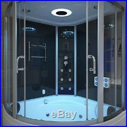 Hydro Corner Steam Shower With Whirlpool Bath Tub Jacuzzis Bathtub Cabin 1350mm