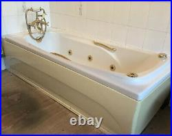 Jacuzzi Bath Tub Gold Vintage Spa Jet Shower Head Whirlpool Electric Bubble Tub