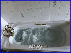 Jacuzzi Bath Tub Gold Vintage Spa Jet Shower Head Whirlpool Electric Bubble Tub