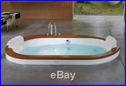 Jacuzzi Opalia Inset Whirlpool Bath with Teak Surround