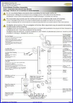 Jacuzzi Whirlpool Tub Waste Drain Pipes Lt4293-12 No Trim Ev23826 3pcs Plumbing