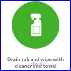 Jetted Bathtub Cleaner for Jacuzzis, Whirlpools Spa Tub Septic Safe 2PK 16 Oz