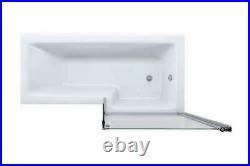 L Shape 1800 x 850mm RH LH Whirlpool Jacuzzi Bath 6/8 Jets Screen Front Panel