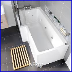 L Shape Trojan 14 Jets Whirlpool Shower Bath Jacuzzi Spa Massage