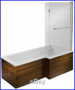 L Shaped 11 Jet Whirlpool Jacuzzi Spa Shower Bath Panel Screen + Free LED Light