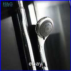 Luxury 1500mm Hydro Corner Steam Shower Cabin Cubicle Whirlpool Jacuzzis Bathtub