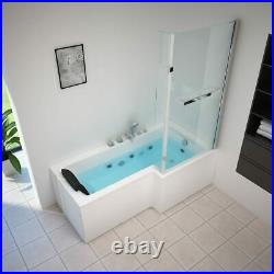 Luxury 1 Person Whirlpool Bath Hydrotherapeutic Jacuzzi with Screen Right Facing