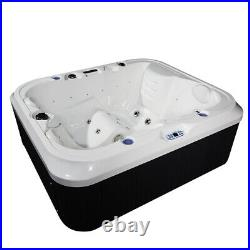Luxury (2S+1L) Hot Tub Spa Jacuzzi Outdoor 21 Jets Whirlpool Bathtub+Cover +Step