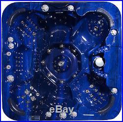 Luxury Cd/dvd Hot Tub Jacuzzi Spa Hot Tubs Whirlpool Bath In Sapphire Blue