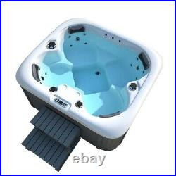 Luxury Outdoor 3-4 Persons Hot tub Thermostatic Spa Whirlpool Jacuzzi with step