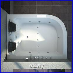 Luxury Whirlpool Bath Tub With Massage And Jacuzzi Jets, 2 Person Left Facing