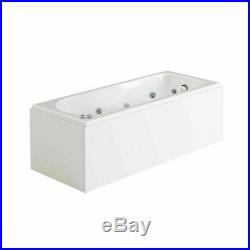 Luxury Whirlpool Straight Bathtub White Acrylic With Waste and Light 1700700mm