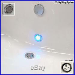Mia 1700 x 700mm 24 Jet Whirlpool / Jacuzzi Bath With LED Light