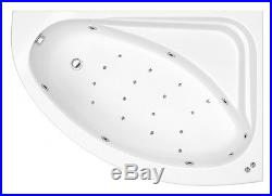 Miami 24 Jet Whirlpool Spa Offset Corner Bath Right Hand White Jacuzzi Spa