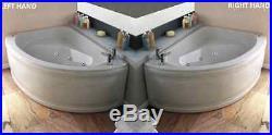 Miami 6 Jet Whirlpool Offset Corner Bath White Acrylic 1500 x 1000 mm Jacuzzi
