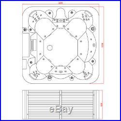 Modern 3KW Hot Tub Spa Jacuzzis whirlpool Bath(5+1)seats Indoor/Outdoor Use6013