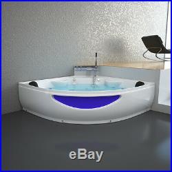 Modern Corner Bath 2 person Double Whirlpool Spa Shower Jacuzzis 1500mm