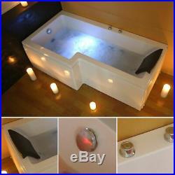 Modern L Shaped Jacuzzis SPA Bath Straight Whirlpool Bathtub Shower Screen Left