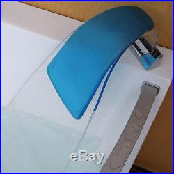 Modern Whirlpool Bath 15 Jacuzzi Jet SPA Shower Massage Acrylic Corner Bathtub