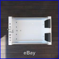 Modern Whirlpool Shower Bathtub Jacuzzi 10 Massage Jets SPA Double Ended