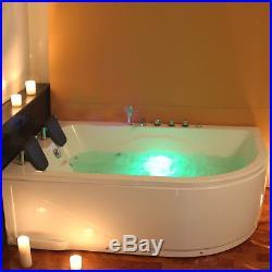 Modern Whirlpool Shower Corner Bath Jacuzzi Jets 2 person Bathtub 1800mm 5153L