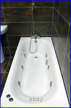 Montecarlo 1600mm Whirlpool Bath With 6 Jet Jacuzzi Type Spa System