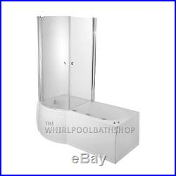 Moods LH Luxury P Shaped 23 Jet Whirlpool Spa Shower Bath Enclosed Jacuzzi Spa