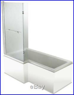 Moods L Shaped 11 Jet Whirlpool Shower Bath Jacuzzi Spa + Free LED Light