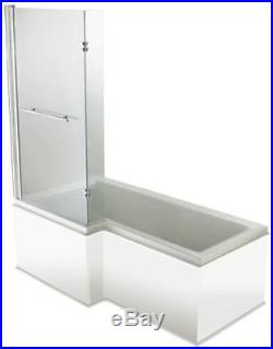 Moods White Left Hand L Shape 27 Jet Whirlpool Shower Bath Designer Jacuzzi Spa
