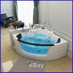 NEW 2019 Amalfi Whirlpool Corner Bath-Jacuzzi Jets-1520mm-Acrylic Spa-RL-6155