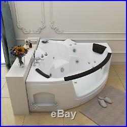 NEW 2019 Amalfi Whirlpool Corner Bath-Jacuzzi Jets-Acrylic Spa-1400mm-RL-6155