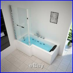 NEW 2019 Siena Whirlpool L Shape Bath-Jacuzzi Jets-1700mm-Acrylic Spa-RL-6140