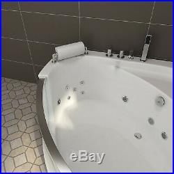 NEW 2019 WHIRLPOOL CORNER BATH-JACUZZI JETS SPA-1350mm x 1350mm-FREE DEL-SICILY