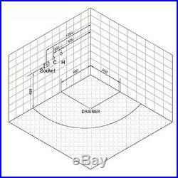 NEW 2019 WHIRLPOOL CORNER BATH-JACUZZI JETS SPA MASSAGE-1500mm x 1500mm VENICE