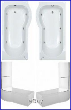 New Trojan 6 Jet P Shaped Whirlpool Shower Bath Screen & Panel Included Jacuzzi