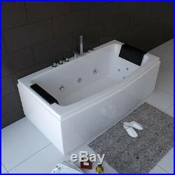 New Whirlpool Bath Shower Spa Jacuzzis Straight 2 Person Massage Bathtub 12 Jets