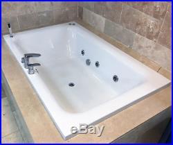 Olena 1900 x 1200mm Luxury Large Bath + Whirlpool Jacuzzi Type Spa Jets Option